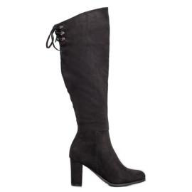 Suede Boots VINCEZA negru