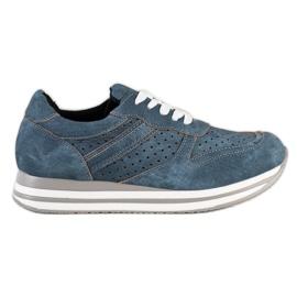 Kylie Pantofi sport cu piele ecologică albastru