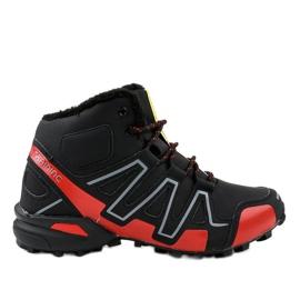 Pantofi de trekking izolați negri BN8810 negru