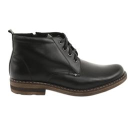 Cizme negre pentru bărbați Moskała BR-1 negru