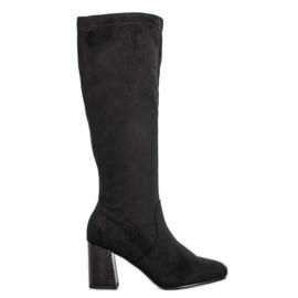 Filippo Elegant cizme de piele negru