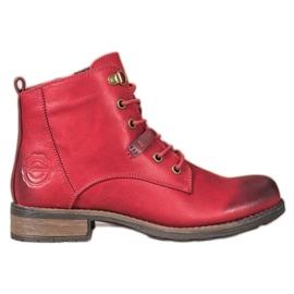Goodin Capcane elegante din piele ecologică roșu