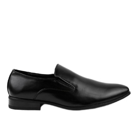Mocasine elegante negre 6-317 negru