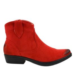 Cizme cowboy de dama rosii plate K860 roșu