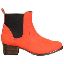 Kylie Cizme Jodhpur clasice portocaliu