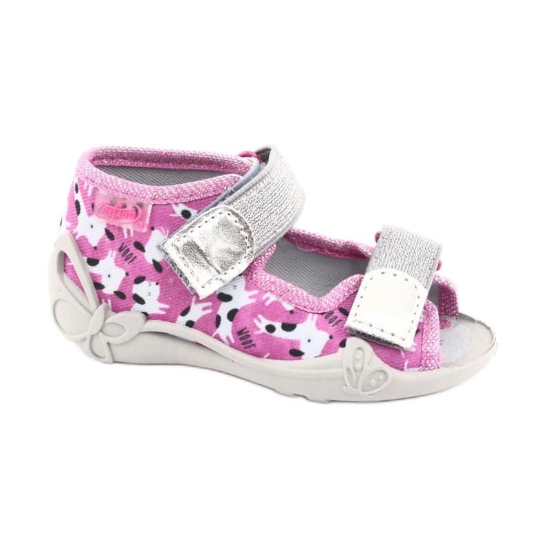 Încălțăminte pentru copii Befado 242P095 alb negru roz gri