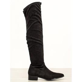 Seastar Cizme casual peste genunchi negru