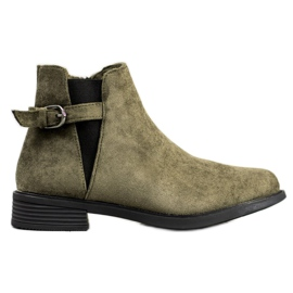 Ideal Shoes Suede Boots verde