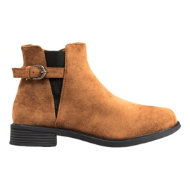 Ideal Shoes Suede Boots maro