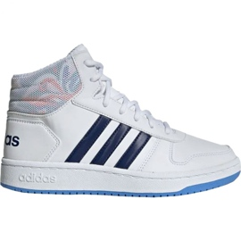 Pantofi Adidas Hoops Mid 2.0 Jr EE8546 alb