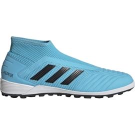 Pantofi de fotbal Adidas Predator 19.3 Ll Tf M EF0389 albastru negru, albastru