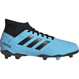 Pantofi de fotbal Adidas Predator 19.3 Fg Jr G25796 albastru negru, albastru