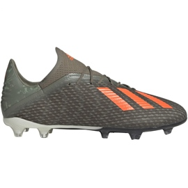 Pantofi de fotbal Adidas X 19.2 Fg M EF8364 verde gri