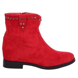 Cizme roșii pe o pană ascunsă roșu G-7606 Roșu