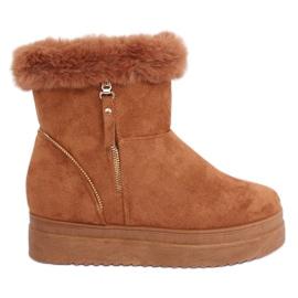Cizme de zăpadă cu cămilă de blană PP-30 Camel maro