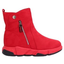 Cizme roșii în stil sport SJ1938 Roșu