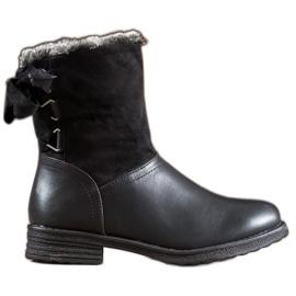 SHELOVET Cizme calde cu blană negru