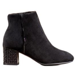 SHELOVET Cizme cu toc decorativ negru