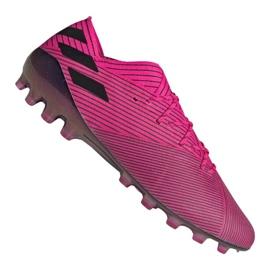 Pantofi de fotbal Adidas Nemeziz 19.1 Ag Fg M FU7033 roz roz