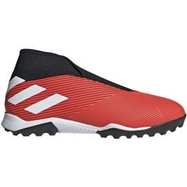 Pantofi de fotbal Adidas Nemeziz 19.3 Ll Tf M G54686 negru, roșu roșu