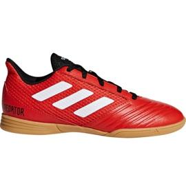 Pantofi de fotbal Adidas Predator Tango 18.4 Sala Jr DB2343 roșu