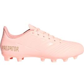 Pantofi de fotbal Adidas Predator 18.4 M FxG DB2008 roz roz