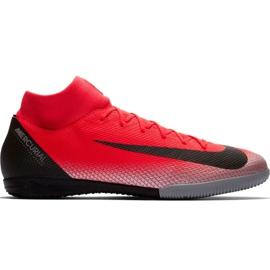 Pantofi de fotbal Nike Mercurial Superfly X 6 Academy CR7 Ic M AJ3567 600 negru, portocaliu roșu