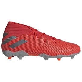 Pantofi de fotbal Adidas Nemeziz 19.3 Fg M F34389 roșu, gri / argintiu roșu