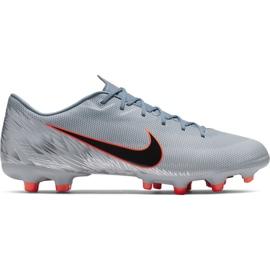 Pantofi de fotbal Nike Mercurial Vapor 12 Academy Mg M AH7375 408 orange, gri / argintiu gri