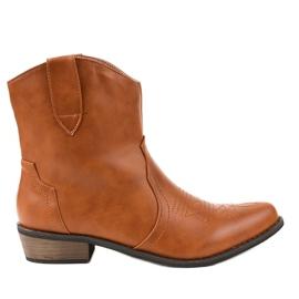Cizme maro pe cizme cowboy 928-1