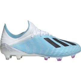 Pantofi de fotbal Adidas X 19.1 M Fg F35316 alb, albastru albastru