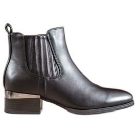 Super Mode Cizme cu toc decorativ negru