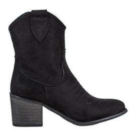 Super Mode Cizme de cowboy negre negru