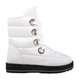 Muto Cizme de zăpadă pe platformă alb