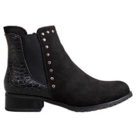 SHELOVET Cizme negre la modă negru