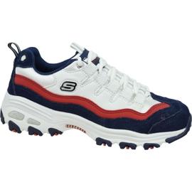 Pantofi Skechers D'Lites W 13141-WNVR alb