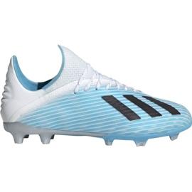 Pantofi de fotbal Adidas X 19.1 Fg Jr F35684 alb, albastru