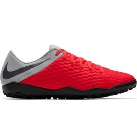 Pantofi de fotbal Nike Hypervenom Phantom X 3 Academy Tf M AJ3815 600 negru, roșu, gri / argintiu