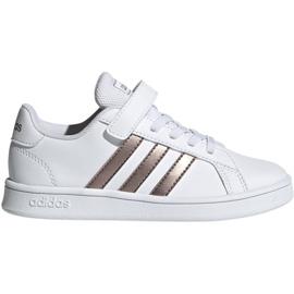 Pantofi Adidas Grand Court C Jr EF0107 alb
