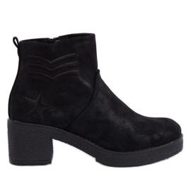 Cizme cu toc înalt negru negru K1822701 Negru