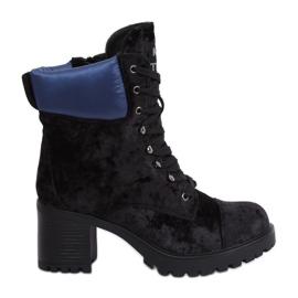 Cizme din velur negru K1835203 Negru