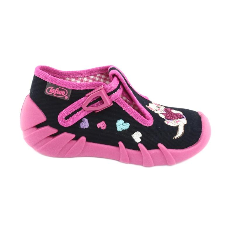 Încălțăminte pentru copii Befado 110P336 albastru marin roz
