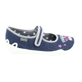 Încălțăminte pentru copii Befado 114Y369 albastru roz gri