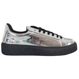 Corina Pantofi cu platformă argintie gri