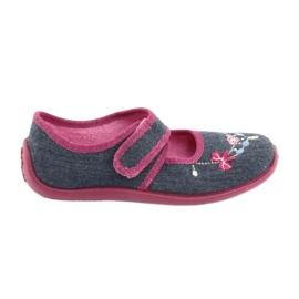 Încălțăminte pentru copii Befado 945Y289 albastru marin multicolor roz