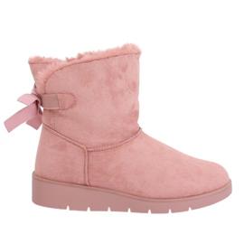 Cizme de zăpadă pentru femei roz A-3 Pink