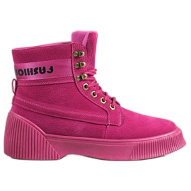 Yes Mile Cizme de moda innodate roz