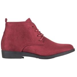 Goodin Cizme de piele confortabilă roșu