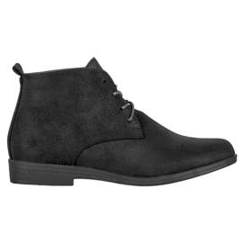 Goodin Cizme de piele confortabilă negru