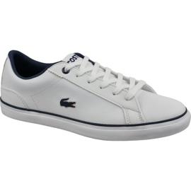 Pantofi Lacoste Lerond Bl 2 Jr 737CUJ0027042 alb